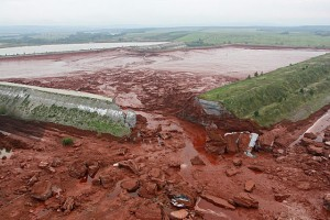 Hungary tailings dam failure. The village of Kolontar was flooded with toxic mud. 10 people died, more than 100 were injured, many suffered chemical burns.
